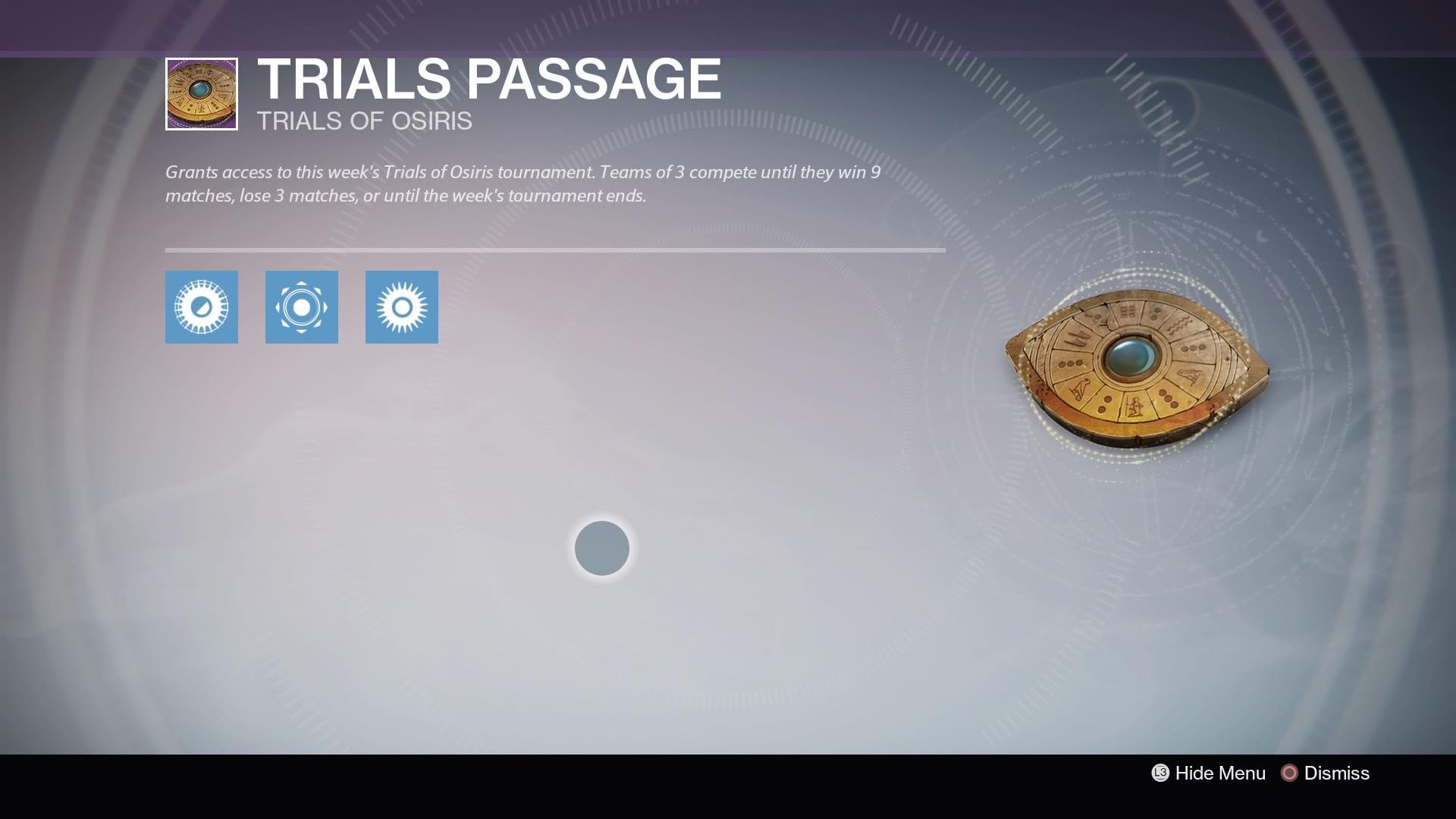 Trials Passage Card