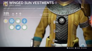 Winged Sun Vestments