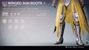 Winged Sun Boots