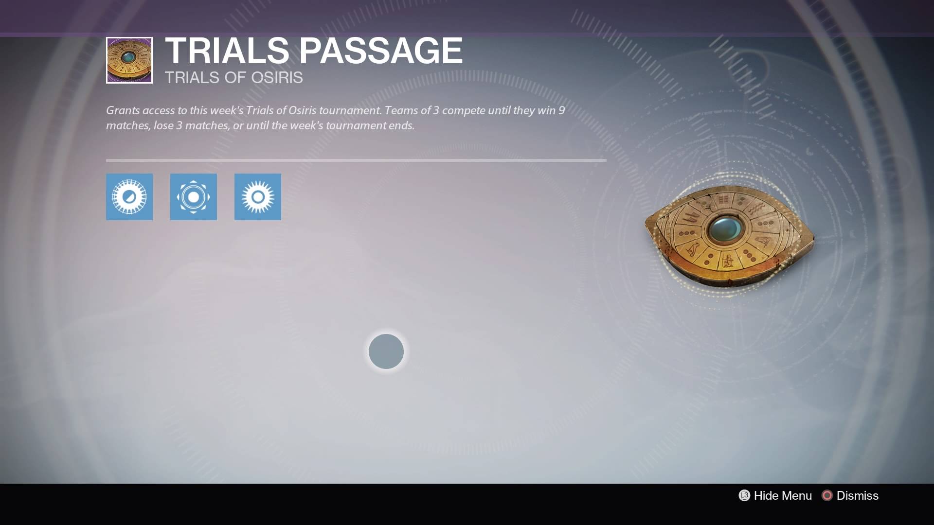 Trials Passage Card