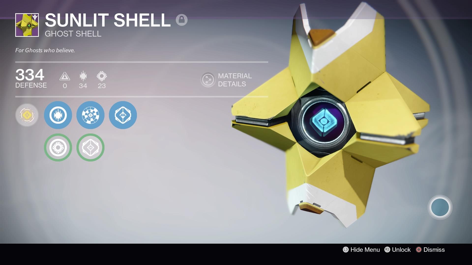 Sunlit Shell